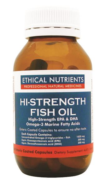 Ethical nutrients hi strength fish oil 60 caps better for Does fish oil lower triglycerides